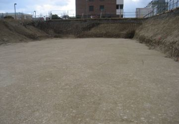 excavación a cota vaciado