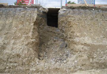 excavación para acometida agua