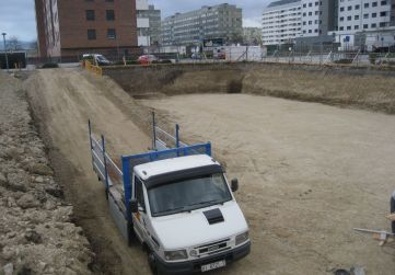 rampa acceso excavación