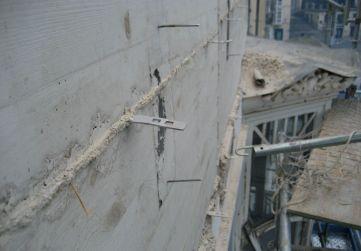 placas anclaje estructura cornisa