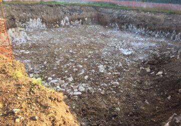 Fondo de excavación