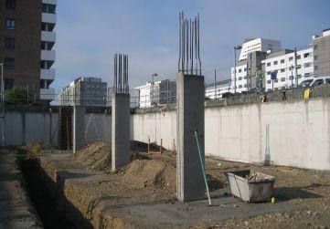 pilares de sótano
