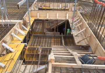 Escaleras planta baja preparadas para hormigonar