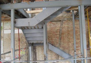 alzado estructura escalera
