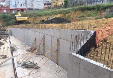 Vista muro de contención