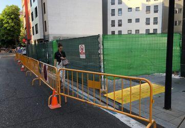 vallado y ocupación vía pública