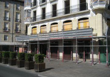 marquesina protección Plaza Virgen Blanca