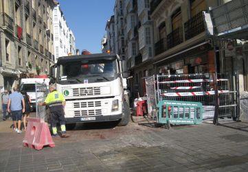 obra Amvisa zona fachada calle Diputación