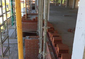 Montaje fachada desde primera planta