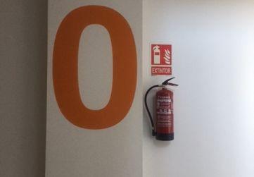 Colocación de extintores