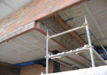 Frente albañilería techo P Baja