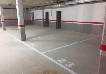 Delimitación y numeración de garajes