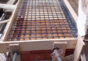 Losa techo nuevo descansillo escalera
