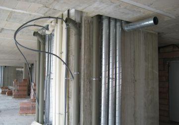 Canalizacion extraccion de humos, salida calderas y bajantes