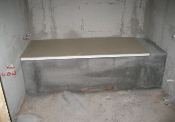 Enfoscados baño en Planta 4º