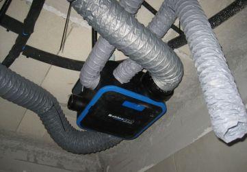 Instalación ventilación en Planta 1º